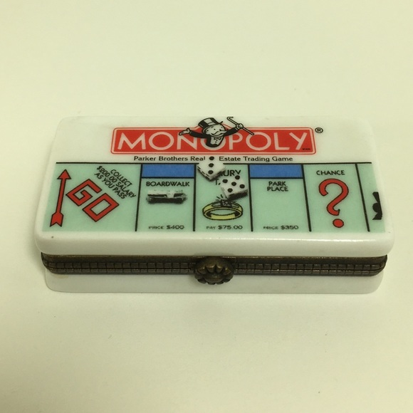 Monopoly Trinket Box with Racecar